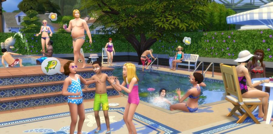 construir piscinas en videojuegos: los sims 4